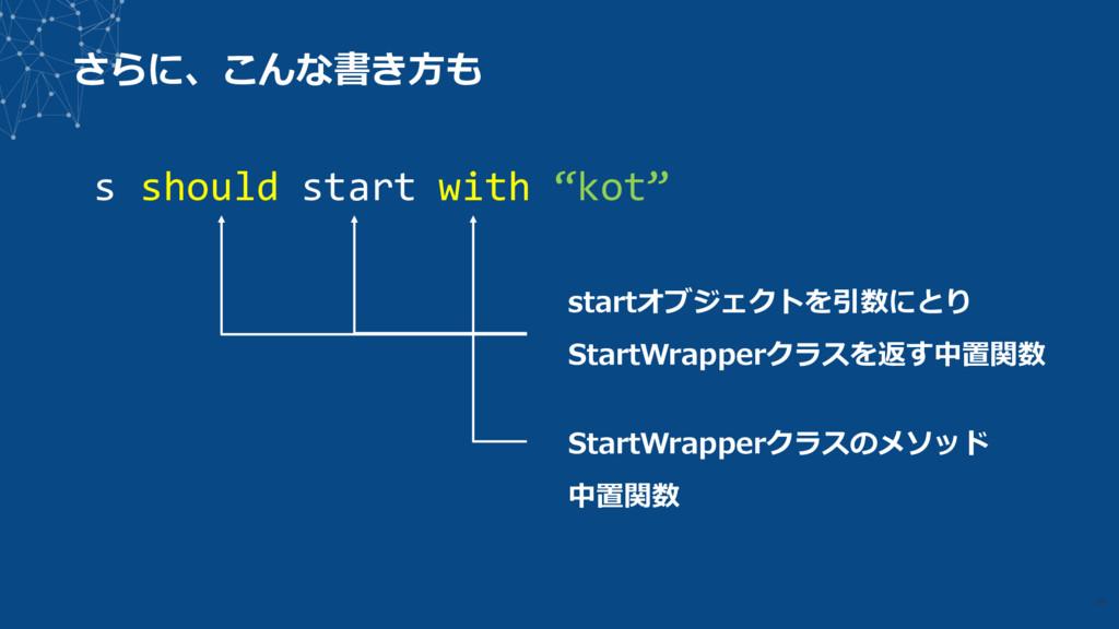 """さらに、こんな書き⽅も 29 s should start with """"kot"""" startオ..."""