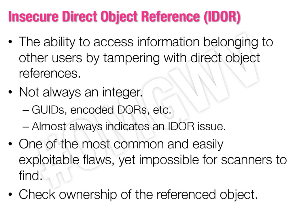 Insecure Direct Object Reference (IDOR) • The a...