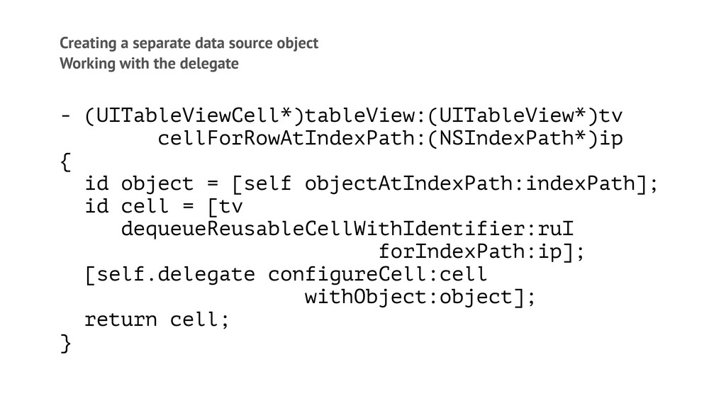 Creating a separate data source object Working ...