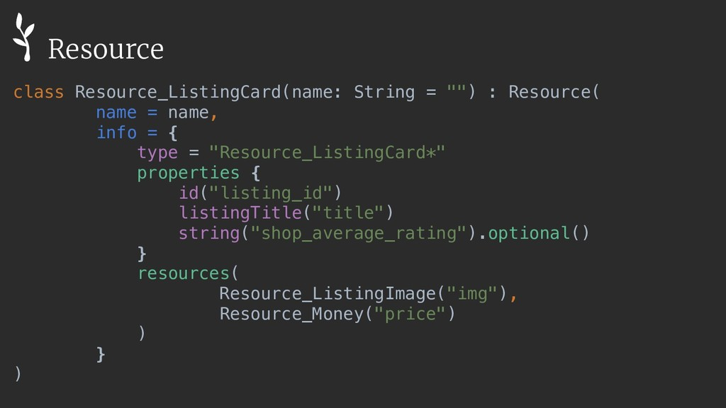 """class Resource_ListingCard(name: String = """""""") :..."""