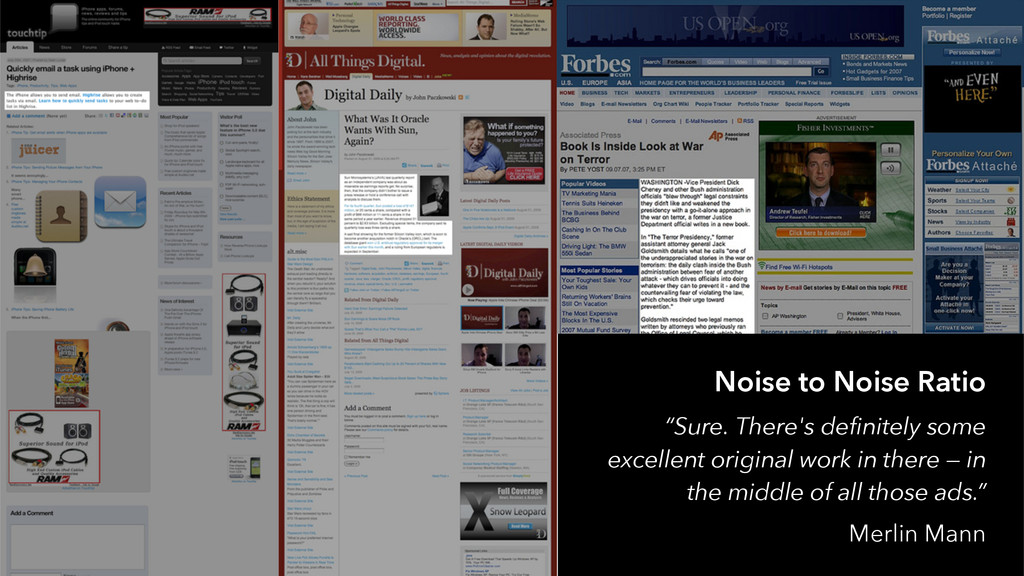 """Noise to Noise Ratio """"Sure. There's definitely ..."""