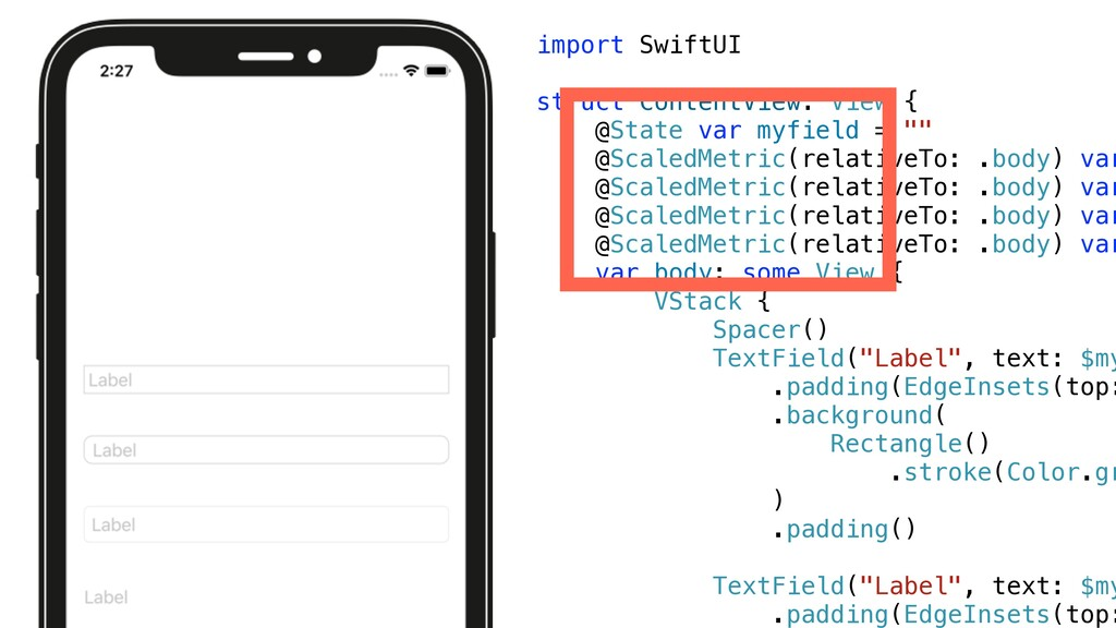 import SwiftUI   struct ContentView: View {   @...