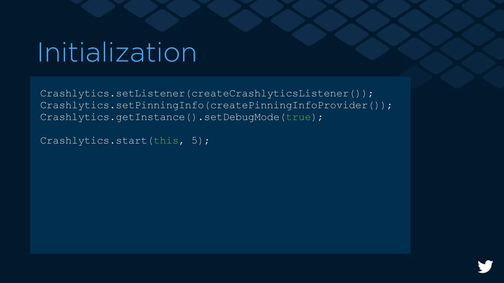 Crashlytics.setListener(createCrashlyticsListen...
