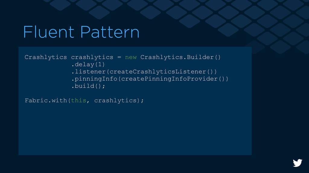 Crashlytics crashlytics = new Crashlytics.Build...