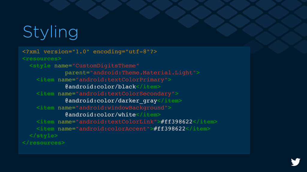 "Styling <?xml version=""1.0"" encoding=""utf-8""?> ..."