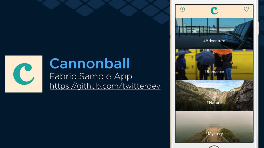 Fabric Sample App Cannonball https://github.com...