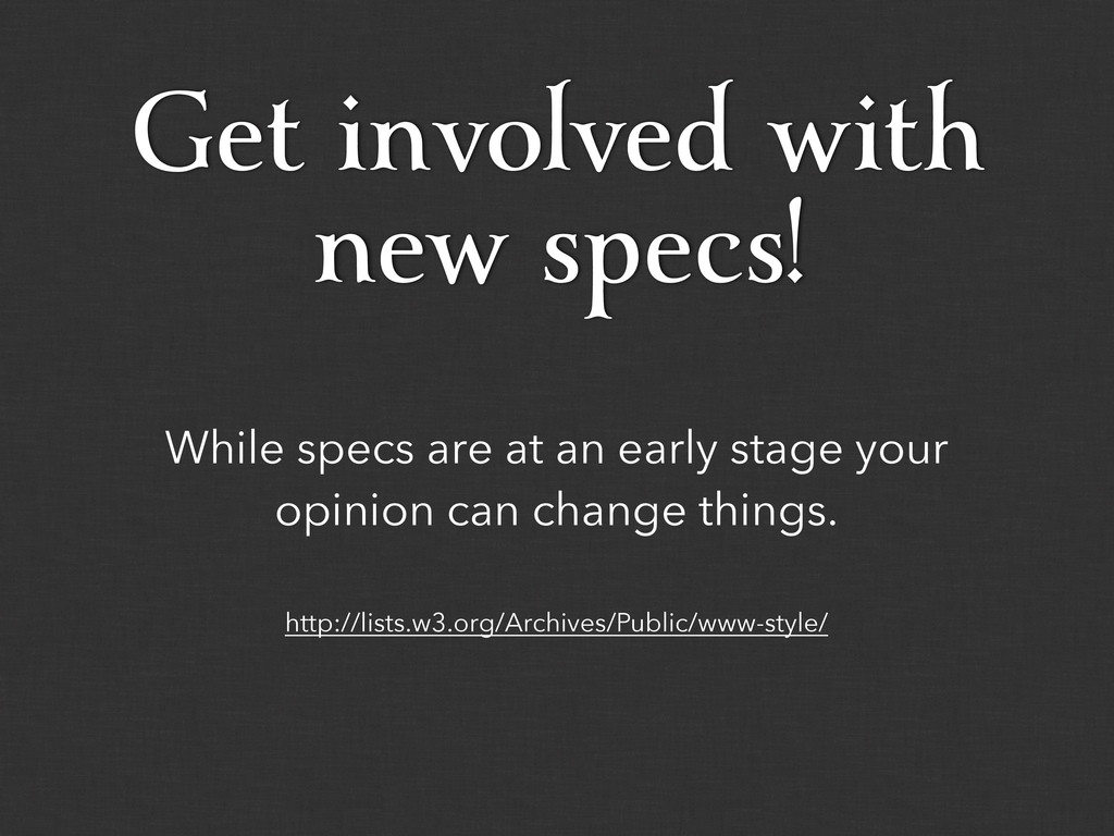 While specs are at an early stage your opinion ...
