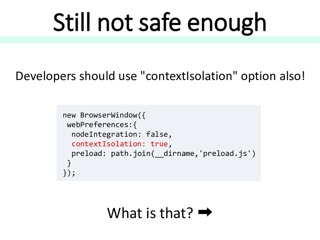 "Still not safe enough Developers should use ""co..."