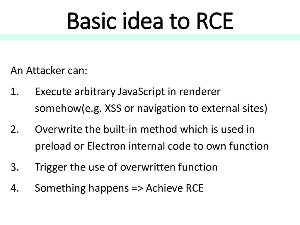 Basic idea to RCE An Attacker can: 1. Execute a...