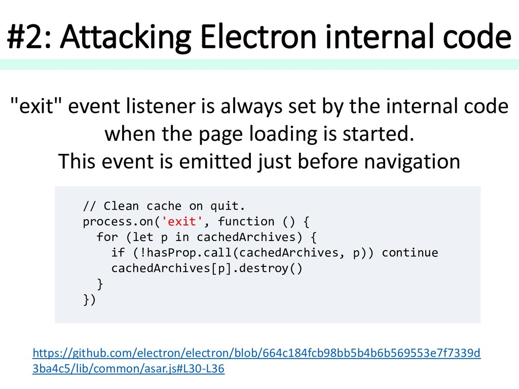 #2: Attacking Electron internal code // Clean c...