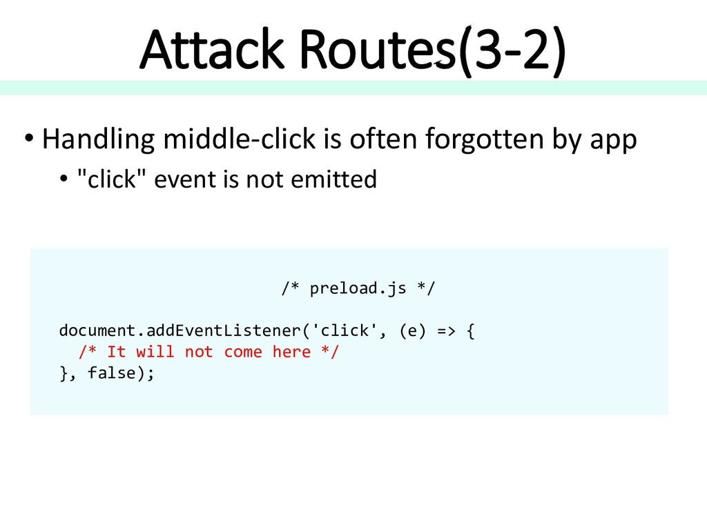 Attack Routes(3-2) • Handling middle-click is o...