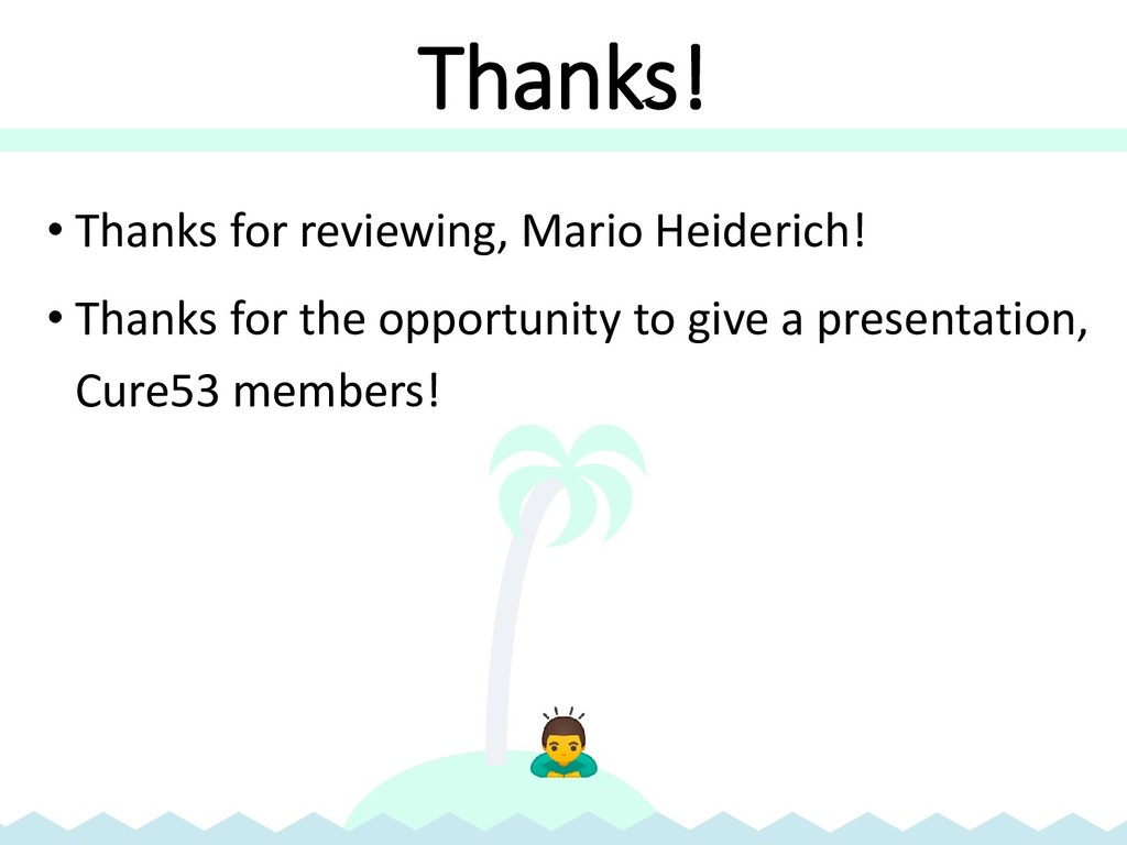 Thanks! • Thanks for reviewing, Mario Heiderich...