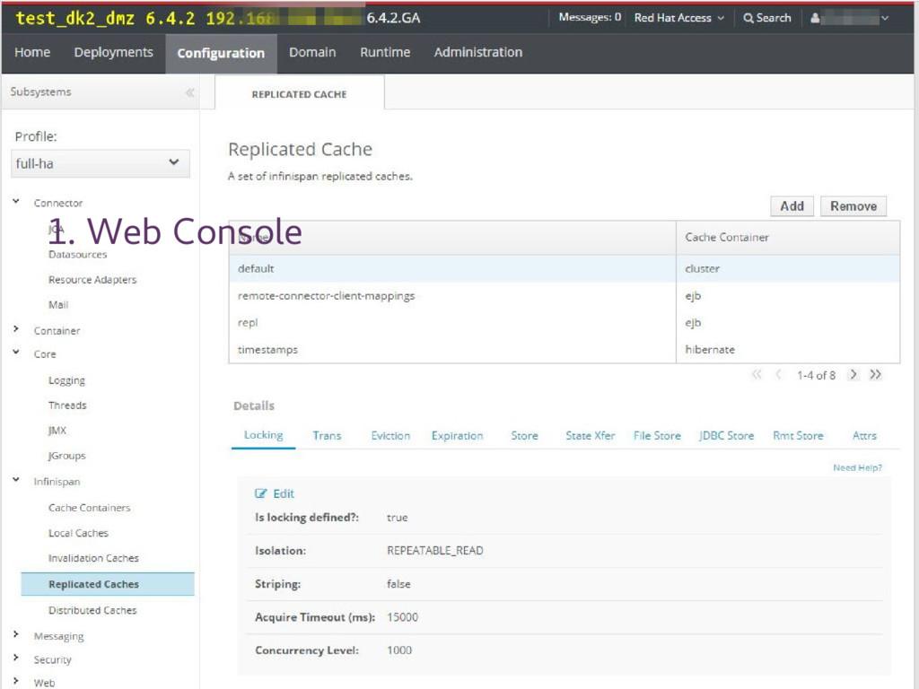 1. Web Console