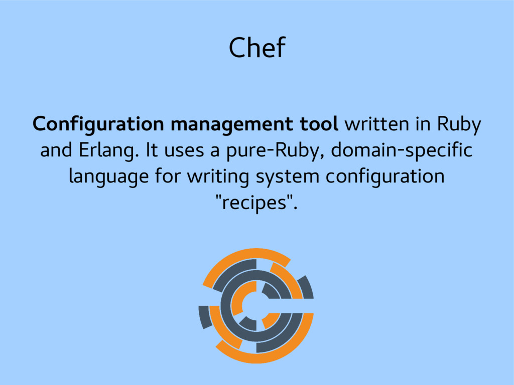 Chef Configuration management tool written in R...