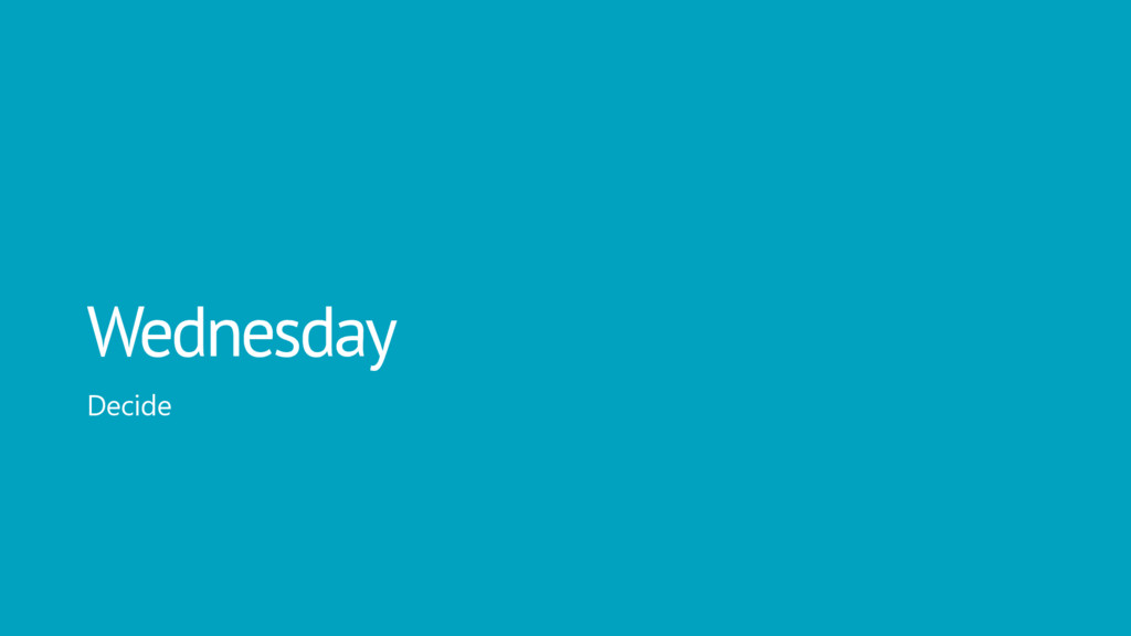 Wednesday Decide