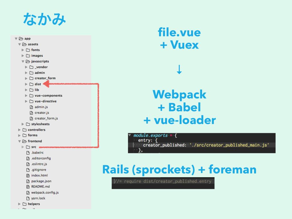 ͳ͔Έ file.vue + Vuex ↓ Webpack + Babel + vue-load...