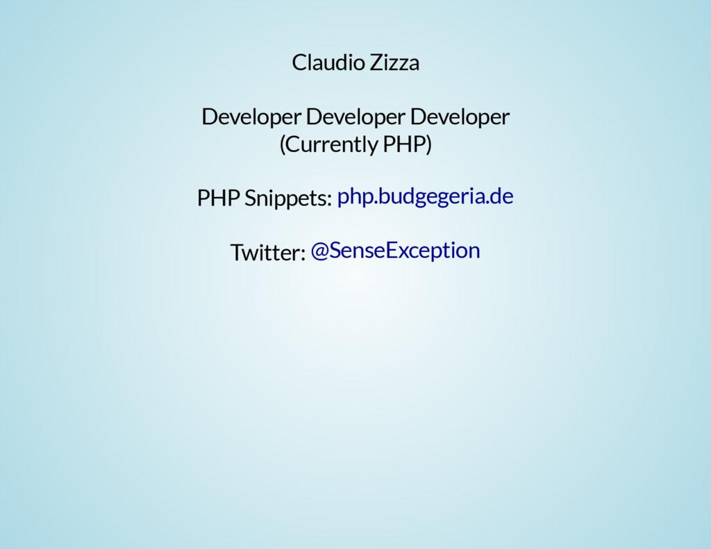 Claudio Zizza Developer Developer Developer (Cu...