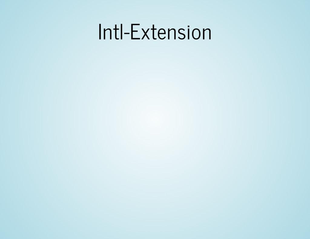 Intl-Extension