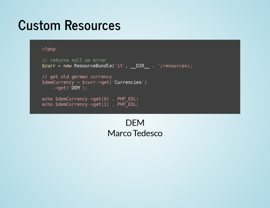 Custom Resources DEM Marco Tedesco < ? p h p / ...