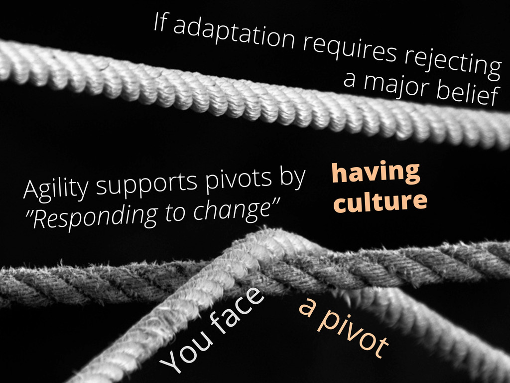 If adaptation requires rejecting a major belief...