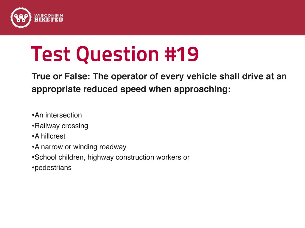 Test Question #19 True or False: The operator o...