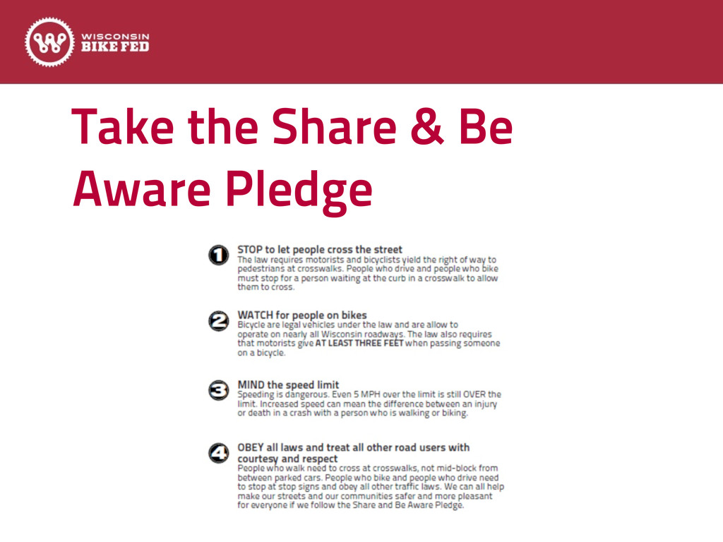Take the Share & Be Aware Pledge Text