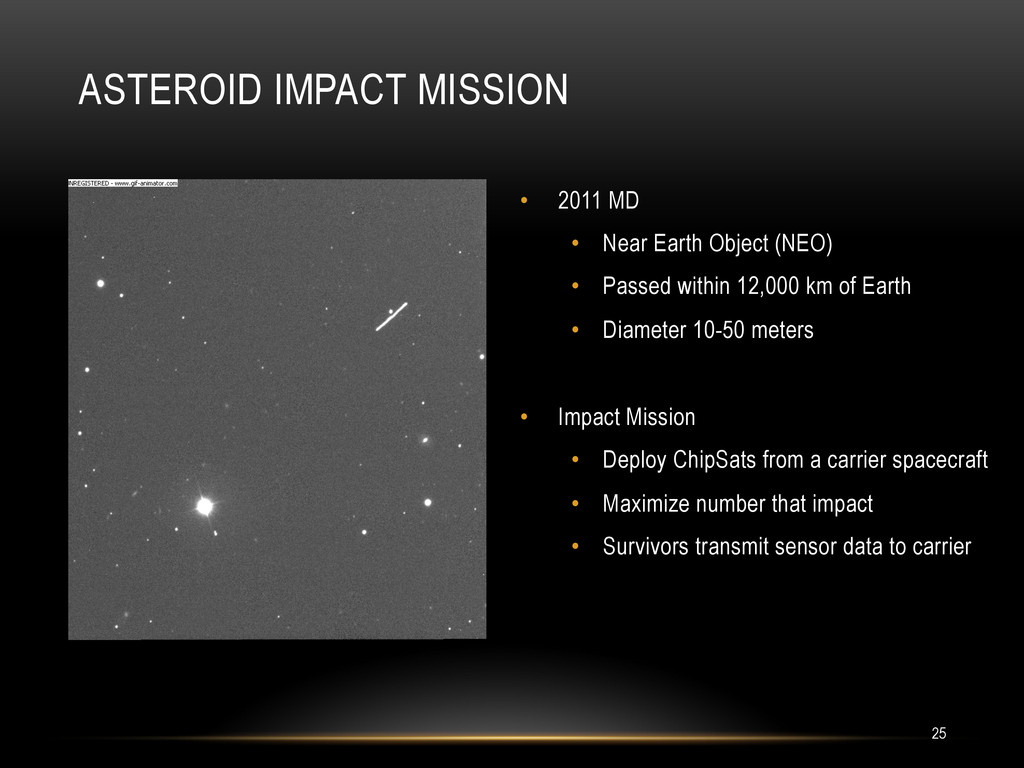 • 2011 MD • Near Earth Object (NEO) • Passed...