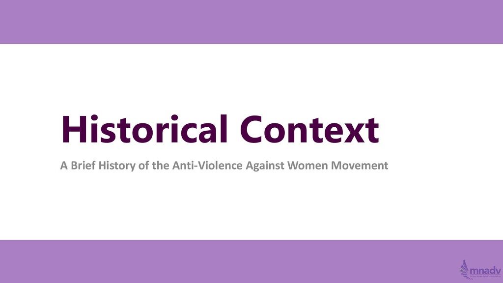 Historical Context A Brief History of the Anti-...