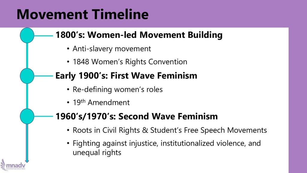 Origin Story 1800's: Women-led Movement Buildin...
