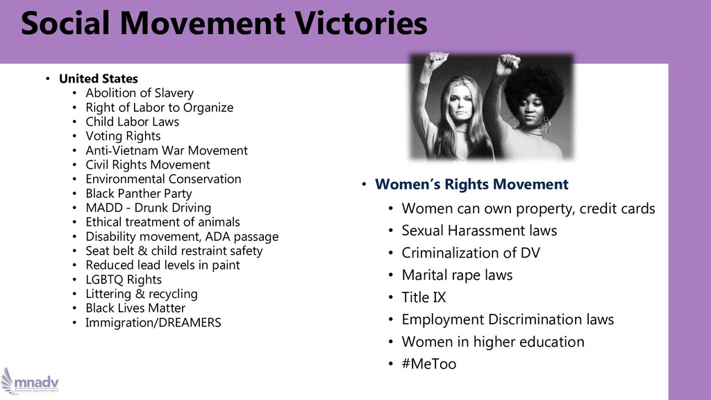 Social Movement Victories • United States • Abo...