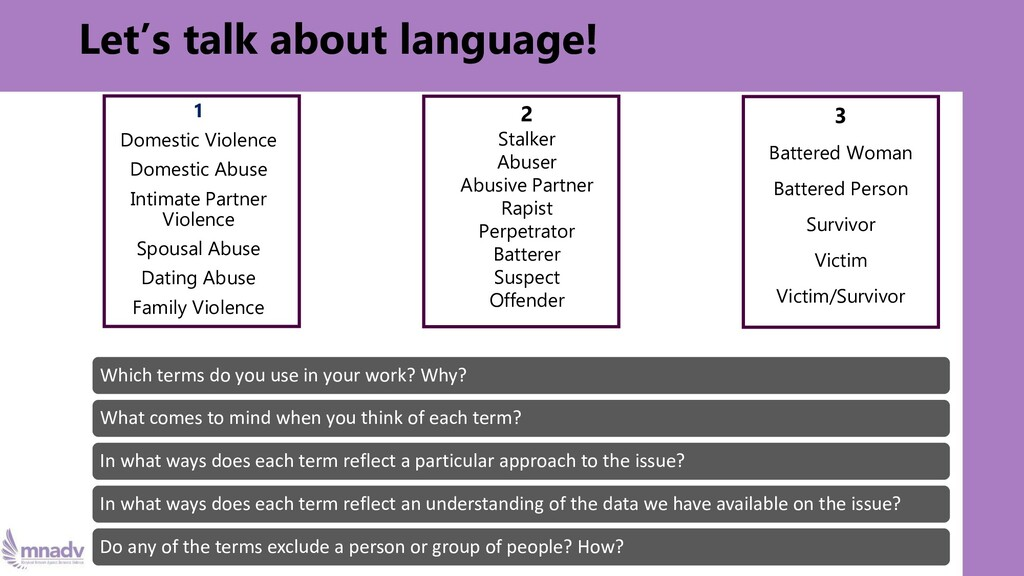 Let's talk about language! Which terms do you u...