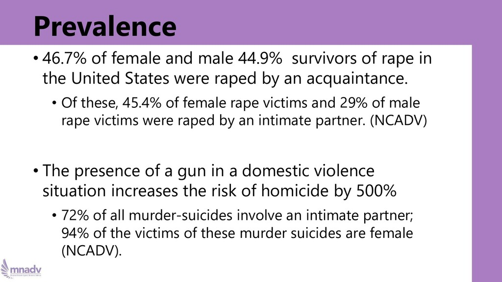 Prevalence • 46.7% of female and male 44.9% sur...