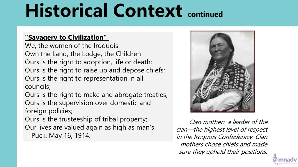 """""""Savagery to Civilization"""" We, the women of the..."""