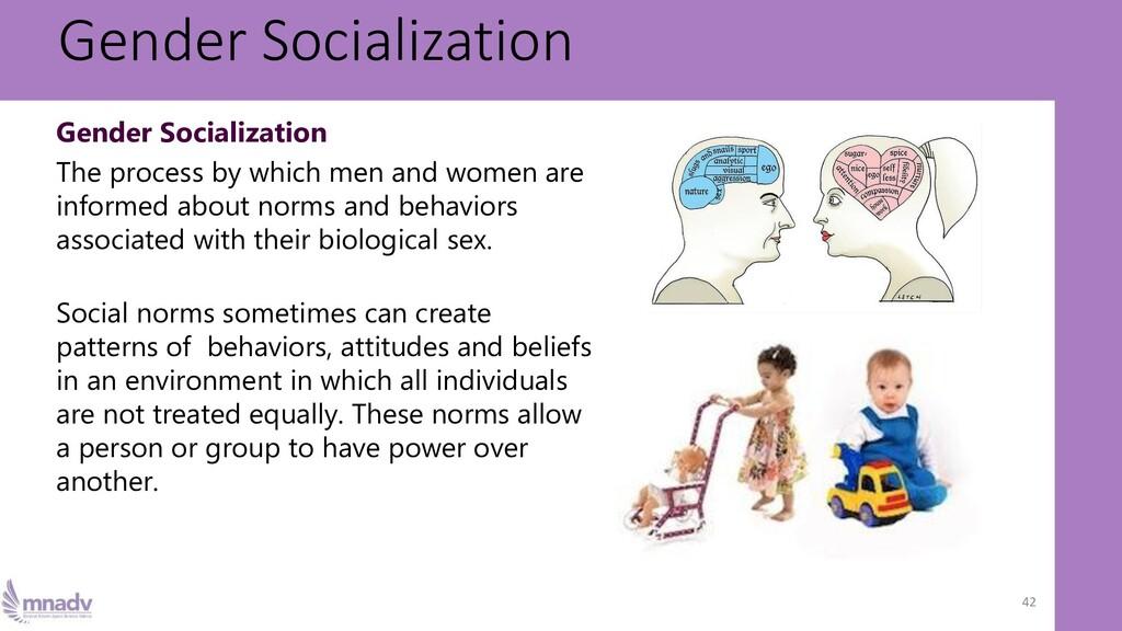 Gender Socialization 42 Gender Socialization Th...