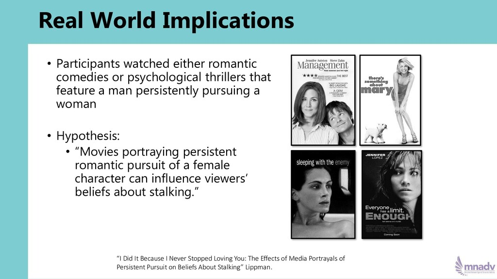 Real World Implications • Participants watched ...