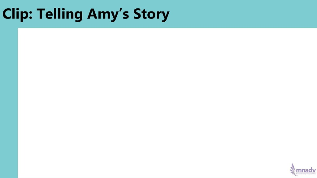 Clip: Telling Amy's Story