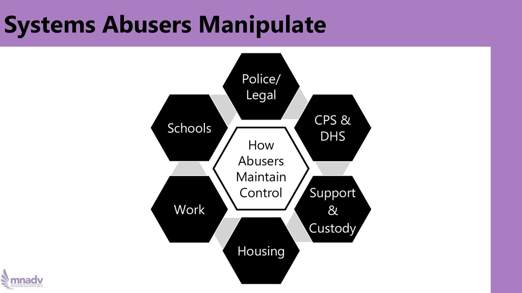 Systems Abusers Manipulate How Abusers Maintain...