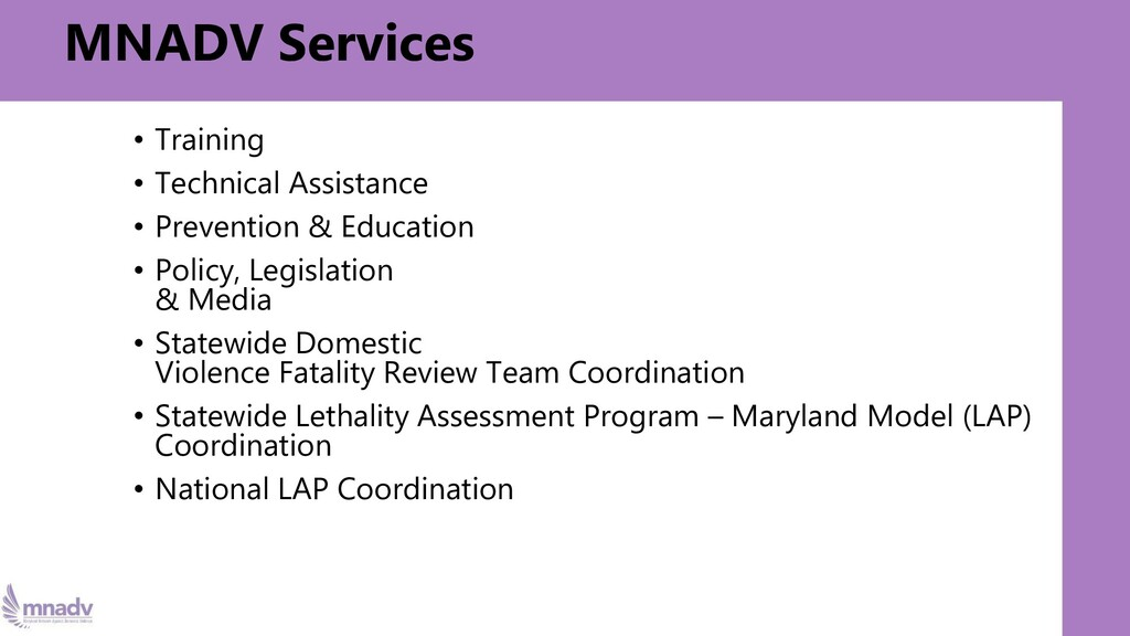 MNADV Services • Training • Technical Assistanc...