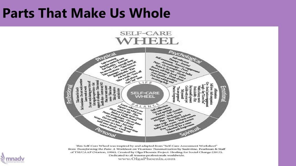 Parts That Make Us Whole