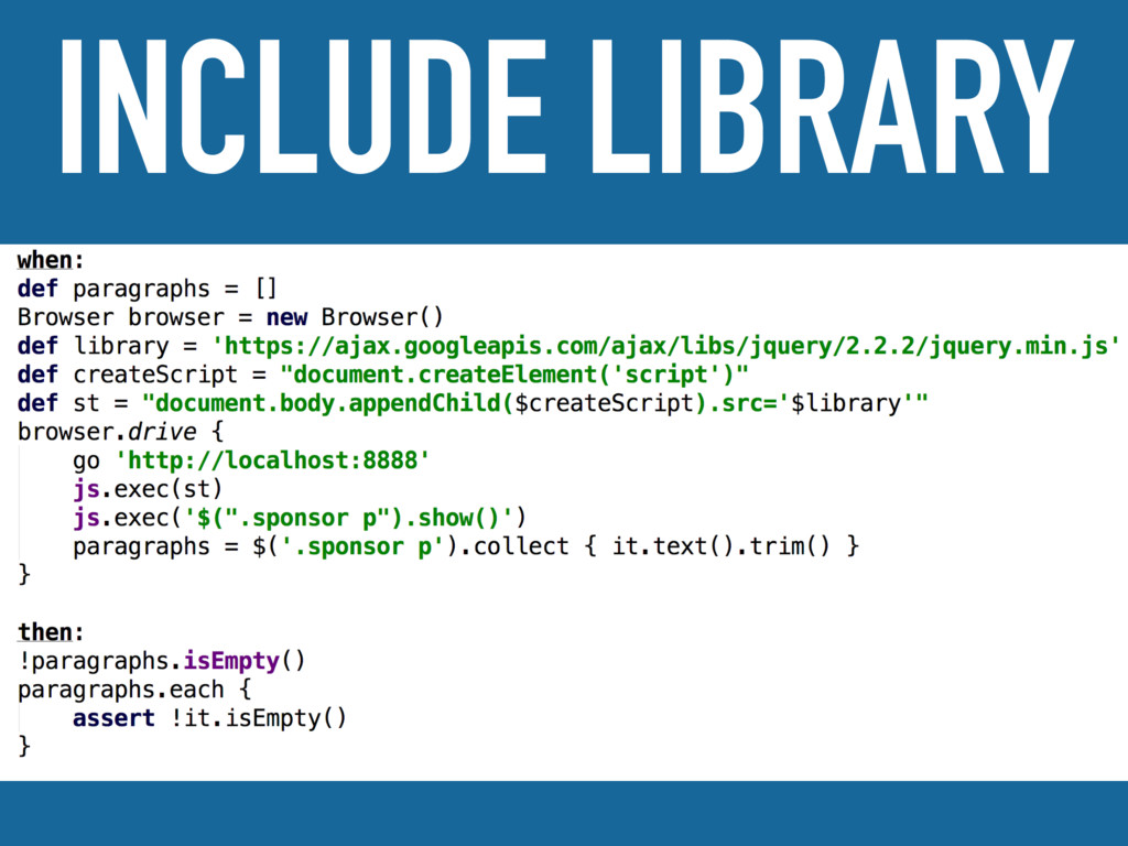 INCLUDE LIBRARY