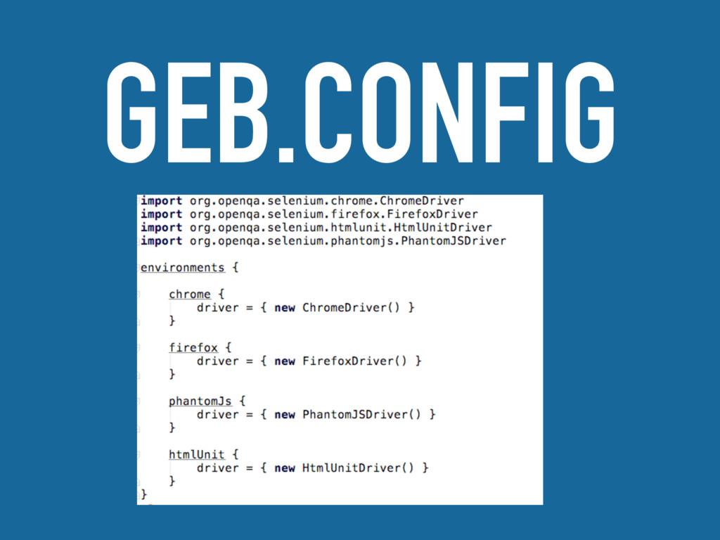 GEB.CONFIG