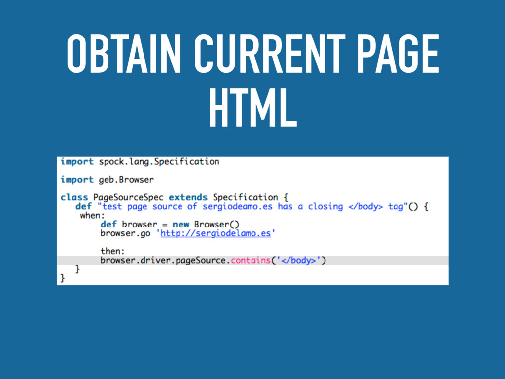 OBTAIN CURRENT PAGE HTML