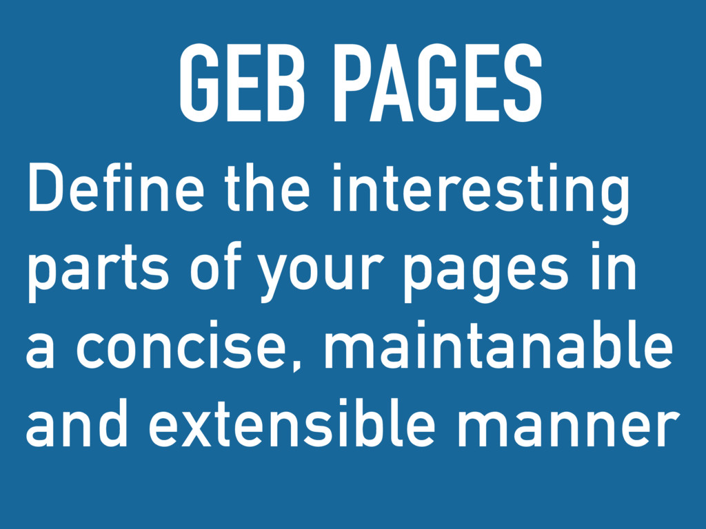 Define the interesting parts of your pages in a...