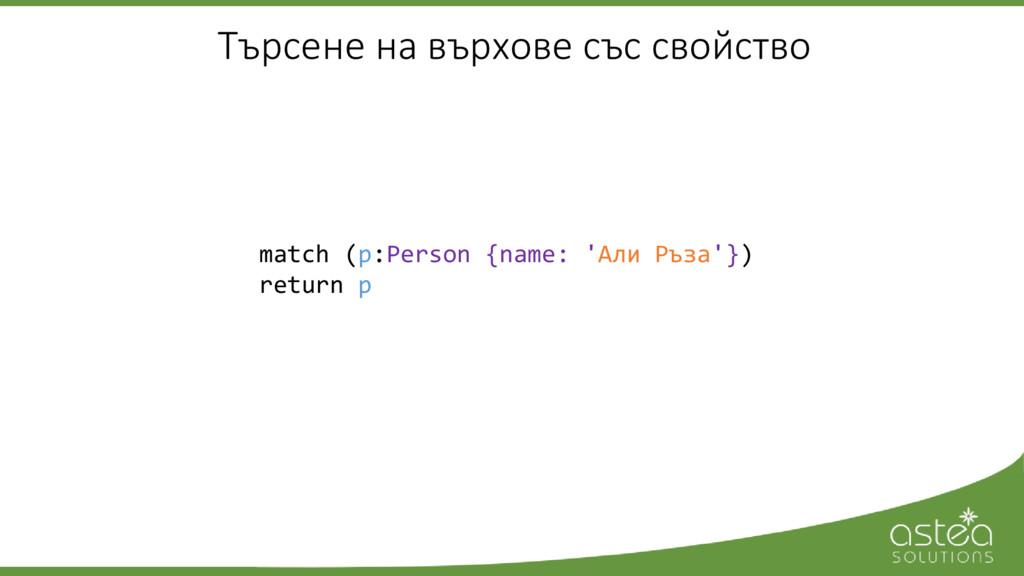 match (p:Person {name: 'Али Ръза'}) return p Тъ...