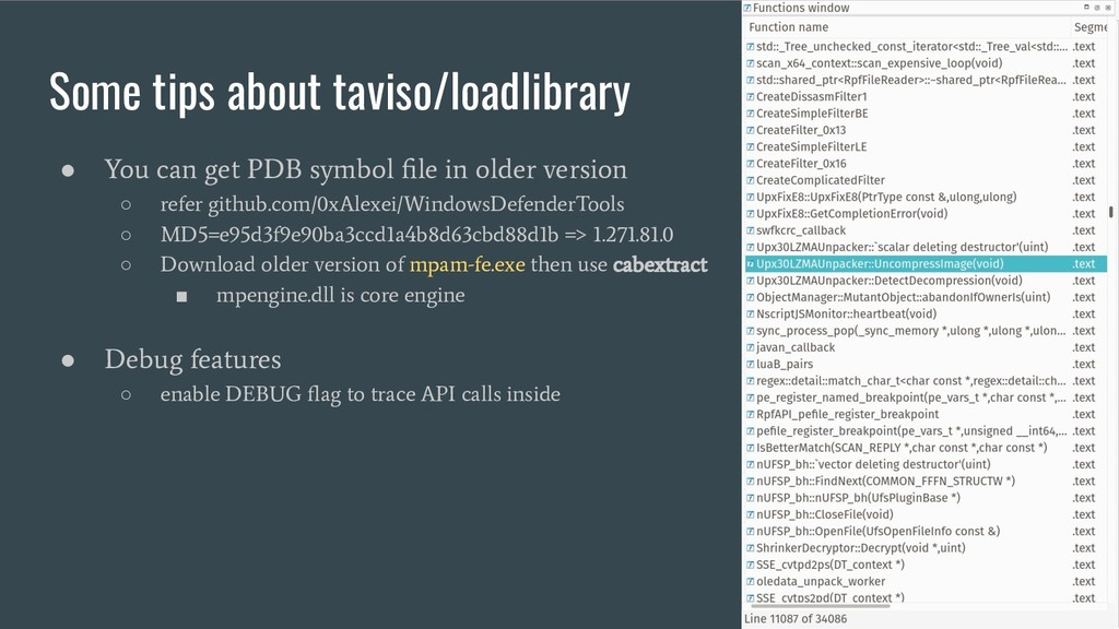 Some tips about taviso/loadlibrary ● You can ge...
