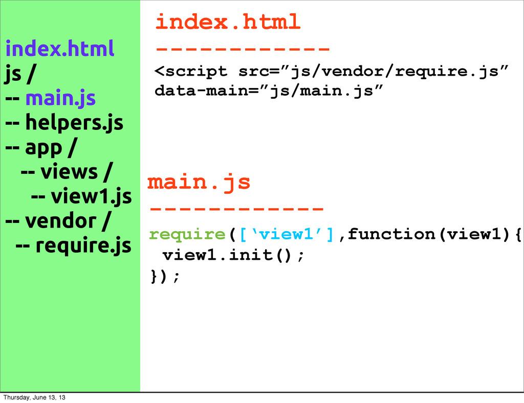 """index.html ------------ <script src=""""js/vendor/..."""