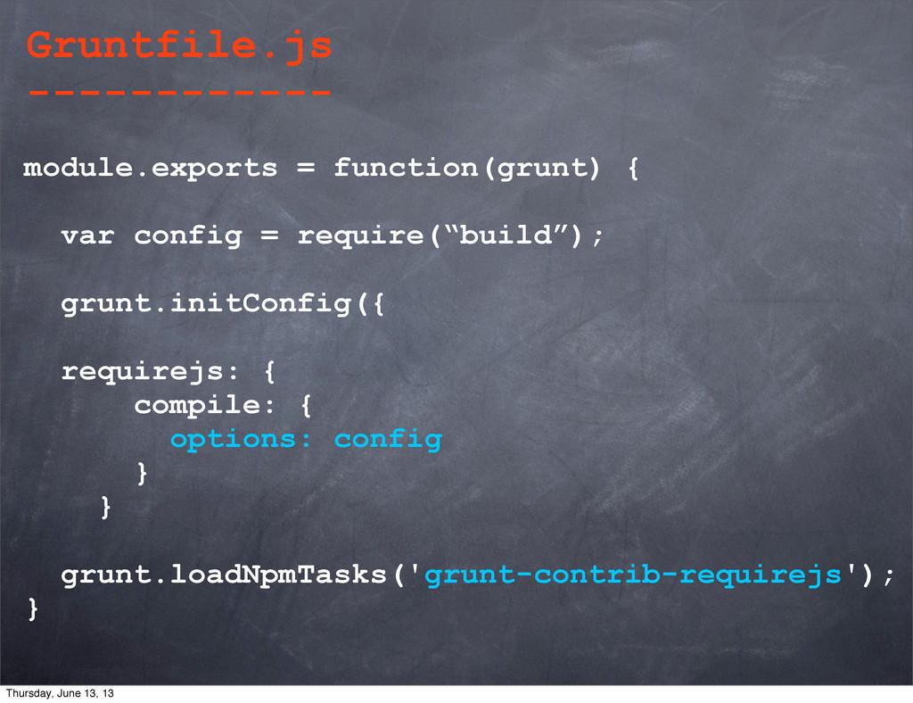 module.exports = function(grunt) { var config =...
