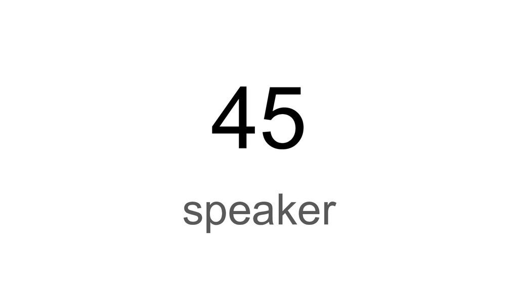 45 speaker