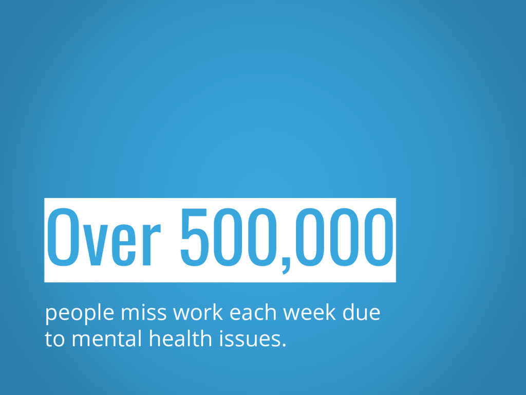 Over 500,000 people miss work each week due to ...