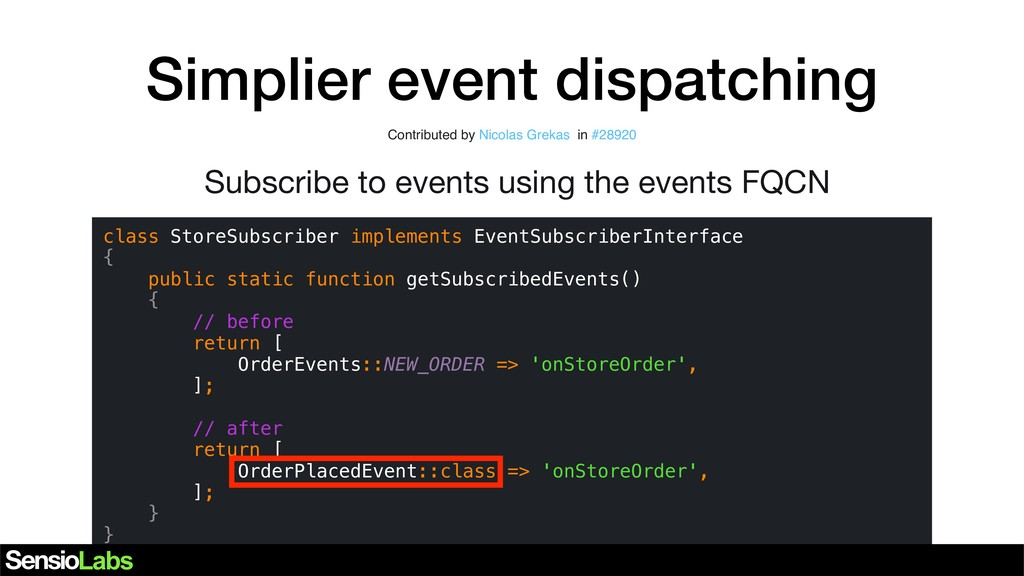 Simplier event dispatching class StoreSubscribe...